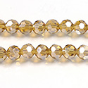 Chinese Cut Crystal Bead 32 Facet - Round 06MM TOPAZ AB