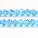 Chinese Cut Crystal Bead 32 Facet - Round 06MM AQUA