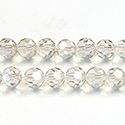 Chinese Cut Crystal Bead 32 Facet - Round 06MM CRYSTAL CHAMPAGNE