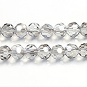 Chinese Cut Crystal Bead 32 Facet - Round 06MM CRYSTAL GREY