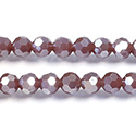 Chinese Cut Crystal Bead 32 Facet - Round 06MM JADE LT PURPLE CHAMPAGNE
