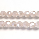 Chinese Cut Crystal Bead 32 Facet - Round 06MM JADE ROSE CHAMPAGNE