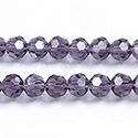 Chinese Cut Crystal Bead 32 Facet - Round 06MM TANZANITE