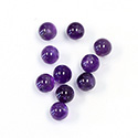 Gemstone 1-Hole Ball 06MM AMETHYST