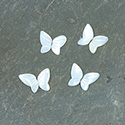 Shell Flat Back Stone - Butterfly Wings 09x5.5MM WHITE MOP