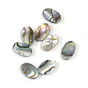Shell Flat Back Flat Top Straight Side Stone - Oval 10.3x6.5MM ABALONE