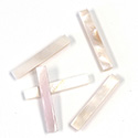 Shell Flat Back Flat Top Straight Side Stone - Cushion 25x4MM PINK MUSSEL
