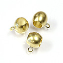 Machine Made Brass Pendant with 1-Loop Large Hole Bead 08MM RAW Unplated