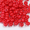 Preciosa Czech Glass Seed Bead - Round 06/0 Terra Intensive RED 16A98