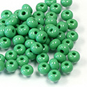 Preciosa Czech Glass Seed Bead - Round 06/0 GREEN OPAQUE 53210