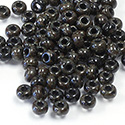 Preciosa Czech Glass Seed Bead - Round 06/0 TRAVERTINE BLACK 29980