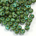 Preciosa Czech Glass Seed Bead - Round 06/0 TRAVERTINE TURQUOISE 69130