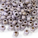Preciosa Czech Glass Seed Bead - Round 06/0 ETCHED PURPLE Z322B