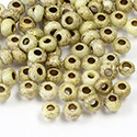 Preciosa Czech Glass Seed Bead - Round 06/0 ETCHED GOLD Z381B