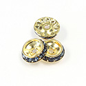 Czech Rhinestone Rondelle Shrag Rivoli Back Setting - Round 12MM outside w 08mm (ss38) Recess MONTANA-RAW
