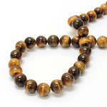 Gemstone Bead - Smooth Round 10MM TIGEREYE