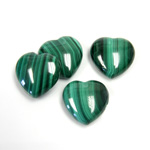 Gemstone Cabochon - Heart 16MM MALACHITE