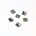 Shell Flat Back Flat Top Straight Side Stone - Square 06x6MM ABALONE