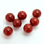 Gemstone 1-Hole Ball 10MM CORNELIAN