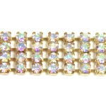 Preciosa Rhinestone Chain - 4 Row PP18 CRYSTAL AB-RAW