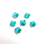 Gemstone Cabochon - Square Pyramid Top 04x4MM HOWLITE DYED CHINESE TURQ