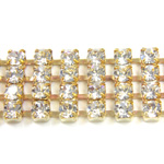 Preciosa Rhinestone Chain - 4 Row PP18 CRYSTAL-RAW