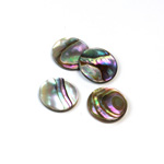 Shell Flat Back Flat Top Straight Side Stone - Round 13MM ABALONE