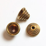 Brass Bead - Lead Safe Machine Made Bead Cap Beehive 05MM RAW BRASS