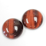 Gemstone Cabochon - Round 20MM TIGEREYE RED