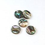 Shell Flat Back Flat Top Straight Side Stone - Round 11MM ABALONE