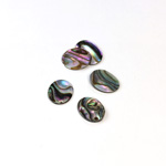 Shell Flat Back Flat Top Straight Side Stone - Oval 10x8MM ABALONE