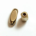 Brass Bead - Lead Safe Machine Made Fancy Rectangle 10x5MM RAW BRASS
