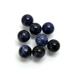Gemstone 1-Hole Ball 08MM SODALITE