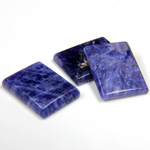Gemstone Flat Back Single Bevel Buff Top Stone - Cushion 16x12MM SODALITE