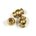 Brass Machine Made Bead - Fancy Tube 06.75x4.8MM RAW BRASS