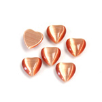 Fiber-Optic Cabochon - Heart 08MM CAT'S EYE COPPER