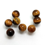 Gemstone 1-Hole Ball 08MM TIGEREYE
