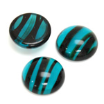 Glass Medium Dome Cabochon - Round 18MM BLUE TORTOISE