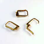 Brass Earwire 13MM Leverback Plain Square with no Loop