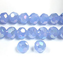 Chinese Cut Crystal Bead 32 Facet - Round 06MM OPAL LT BLUE AB