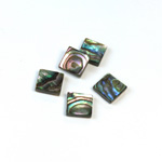 Shell Flat Back Flat Top Straight Side Stone - Square 08x8MM ABALONE
