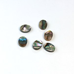 Shell Flat Back Flat Top Straight Side Stone - Oval 08x6MM ABALONE
