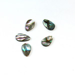 Shell Flat Back Flat Top Straight Side Stone - Pear 10x6MM ABALONE
