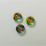 German Glass Flat Back 3/4 Ball - with Ying-Yang - 08MM IRIDIS