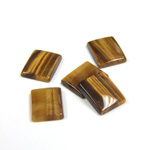 Gemstone Flat Back Single Bevel Buff Top Stone - Cushion 10x8MM TIGEREYE