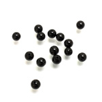 Gemstone 1-Hole Ball 04MM BLACK ONYX