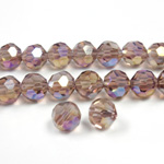 Chinese Cut Crystal Bead 32 Facet - Round 06MM LT AMETHYST AB