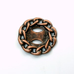 Metalized Plastic Chain Design Setting - Round 35MM ANTIQUE COPPER