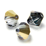 Preciosa Crystal Bead - Bicone 03MM AURUM HALF