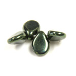Preciosa Czech Pressed Glass Bead - Pip 5x7MM IRIS GREEN